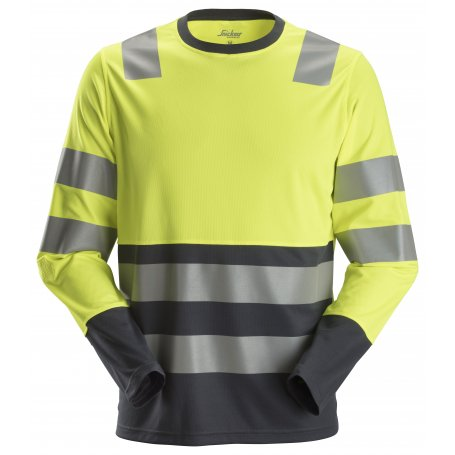 T-shirt Odblaskowy AllroundWork – długi rękaw, EN 20471/2, Snickers 2433