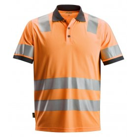 Koszulka Polo odblaskowa AllroundWork, EN 20471/2, Snickers 2730