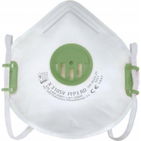 Maska z filtrem FFP3 ochronna, regulowana - X 310SV FFP3 R D OXYLINE