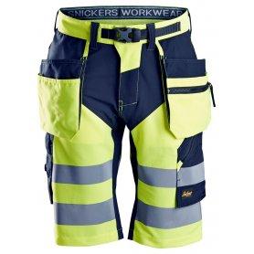 Spodnie robocze krótkie odblaskowe FlexiWork+, w.k., EN 20471/1, Snickers 6933