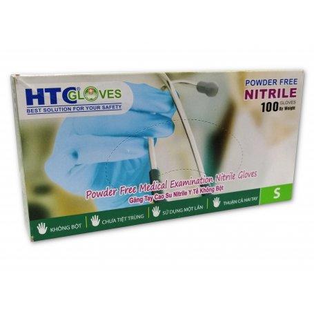 Rękawiczki nitrylowe niebieskie HTC GLOVES / 100szt