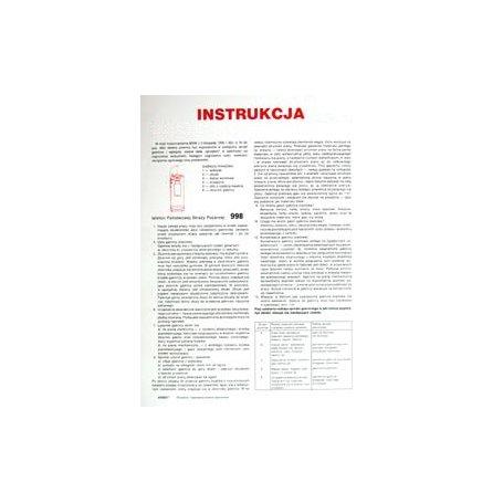 Instrukcja obsługi gaśnicy proszkowej