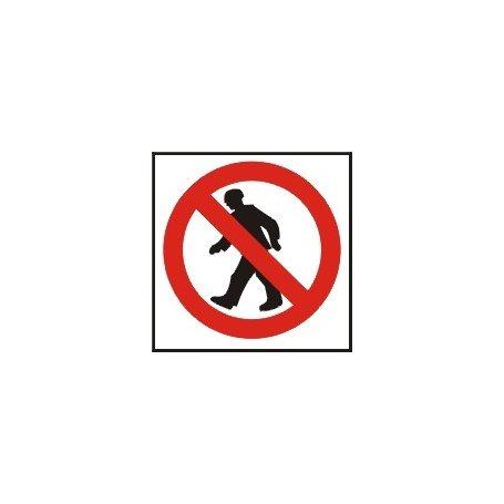 Znak zakaz przejścia ZZ-2Z