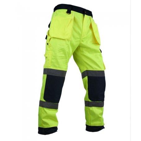 Spodnie robocze do pasa odblaskowe z dodatkowymi kieszeniami VWTC64-B Vizwell