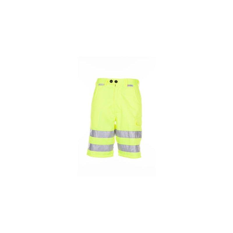 Spodnie krótkie jednokolorowe ostrzegawcze Planam