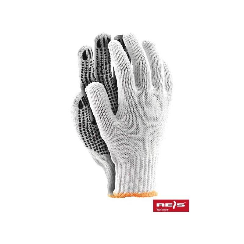 Rękawice nakrapiane bawełniane RDZN