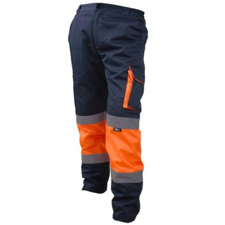 Odblaskowe spodnie robocze do pasa VWTC17 Vizwell