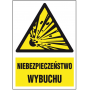 Znak ochrony PPOŻ niebezpieczeństwo wybuchu ZZ-16P-2