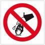 Znak ochrony PPOŻ zakaz gaszenia wodą ZZ-13P