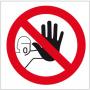 Znak BHP nieupoważnionym wstęp wzbroniony ZZ-7Z