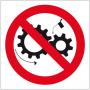 Znak BHP Zakaz smarowania urządzeń w ruchu ZZ-16Z