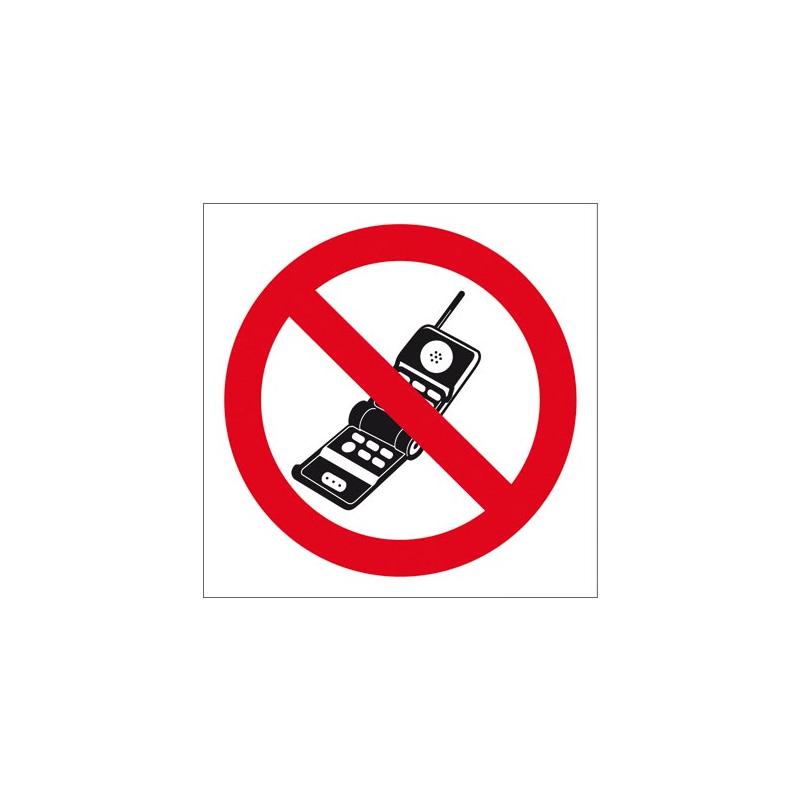 Znak BHP zakaz używania telefonów komórkowych ZZ-13Z