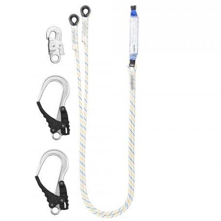 PROTEKT Amortyzator bezpieczeństwa z podwójna linką i zatrzaśnikami ABM/LB 102/AZ 002/2XAZ 029