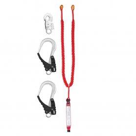 PROTEKT Amortyzator bezpieczeństwa z podwójną linką elastyczną  i zatrzaśnikami ABM/2 LE 111/AZ 002/2XAZ 029