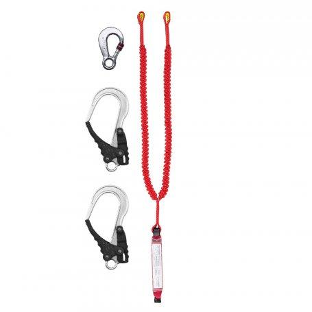 PROTEKT Amortyzator bezpieczeństwa z podwójną linką elastyczną i zatrzaśnikami ABM/2 LE 111/AZ 003/2XAZ 029