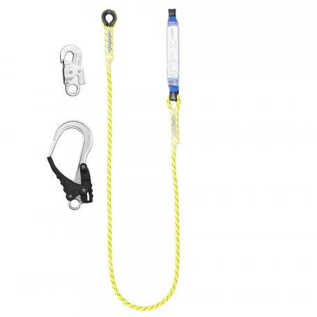 PROTEKT Amortyzator bezpieczeństwa z linką nieregulowaną i zatrzaśnikami ABM/LB 101 HV/AZ 002/AZ 029