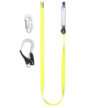 Amortyzator bezpieczeństwa z pojedynczą taśmą HV ABM-T HV i zatrzaśnikami ABM-T HV/ AZ 002/AZ 029