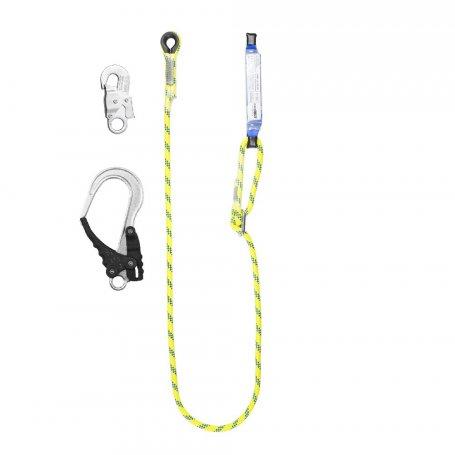 PROTEKT Amortyzator bezpieczeństwa z linką regulowaną ABM/LB100HV z zatrzaśnikami AZ 002 i AZ 029