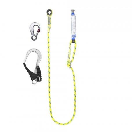 PROTEKT Amortyzator bezpieczeństwa z linką regulowaną ABM/LB100HV z zatrzaśnikami AZ 003 i AZ 029