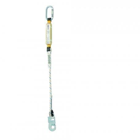 PROTEKT Amortyzator bezpieczeństwa z linką do pracy na rusztowaniach ABM SCF BW 210 i zatrzaśnikami AZ 011 i AZ 002