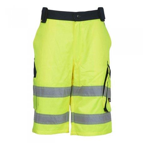 VIZWELL Spodnie krótkie BERMUDY, ostrzegawcze o intensywnej widzialności VWTC114