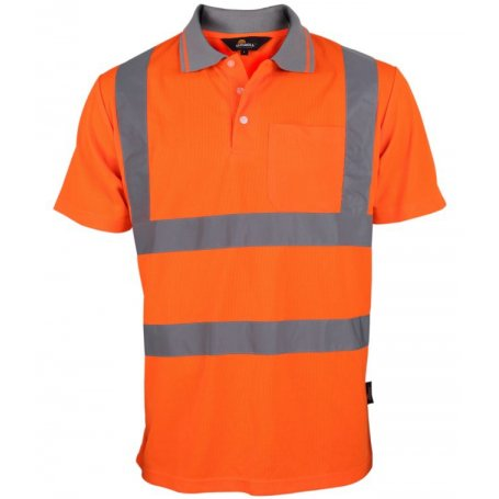 VIZWELL Koszulka polo ostrzegawcza o intensywnej widzialności VWPS03-B