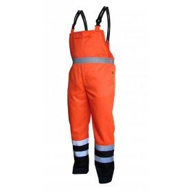 VIZWELL Spodnie robocze na szelkach ostrzegawcze o intensywnej widzialności VWTC08-B