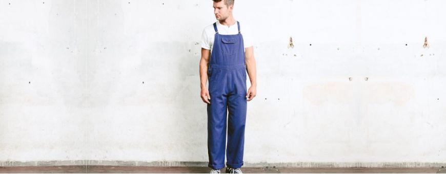 Męskie spodnie robocze ogrodniczki - Spodnie Higline, Planam, Sara