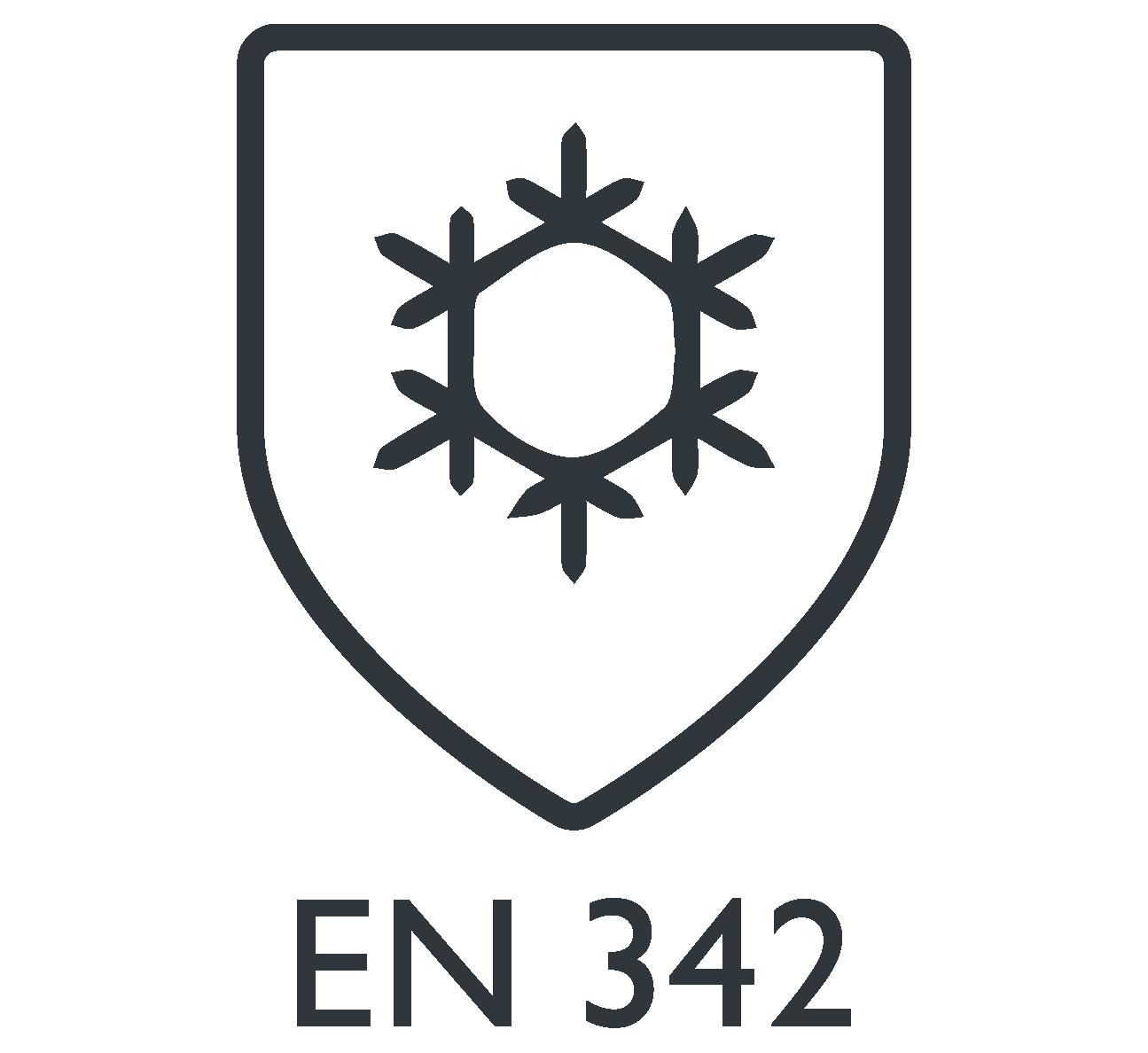 Norma EN 342 - symbol