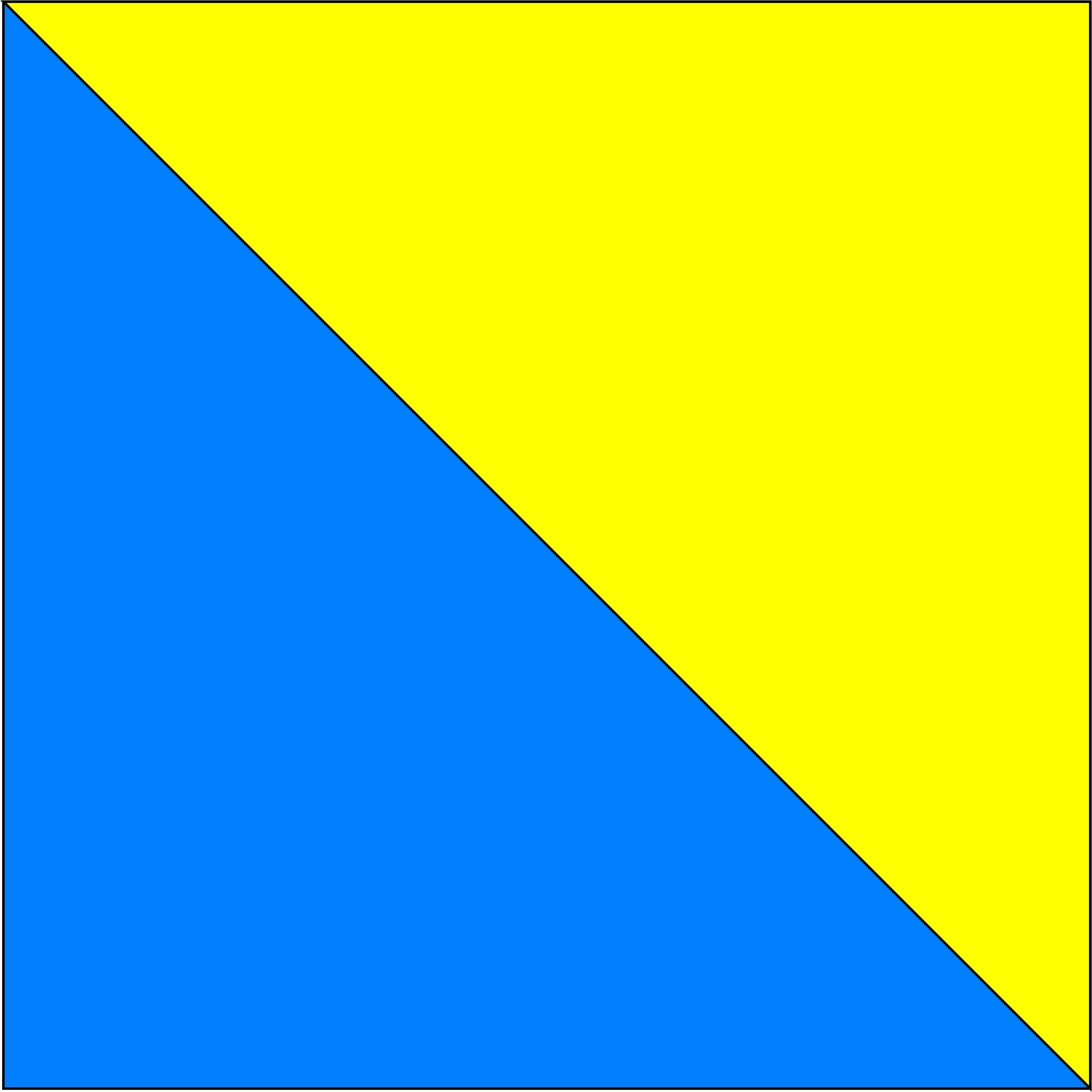niebieski/żółty